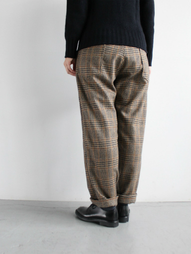 GRANDMA MAMA DAUGHTER WOOL RANCH PANTS / GLEN CHECK_b0139281_1733943.jpg