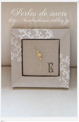 自宅レッスン 額装仕立ての壁掛け時計 マルチトレイ ツールスタンド シャポースタイルの箱 ハウス型の箱_f0199750_22293609.jpg