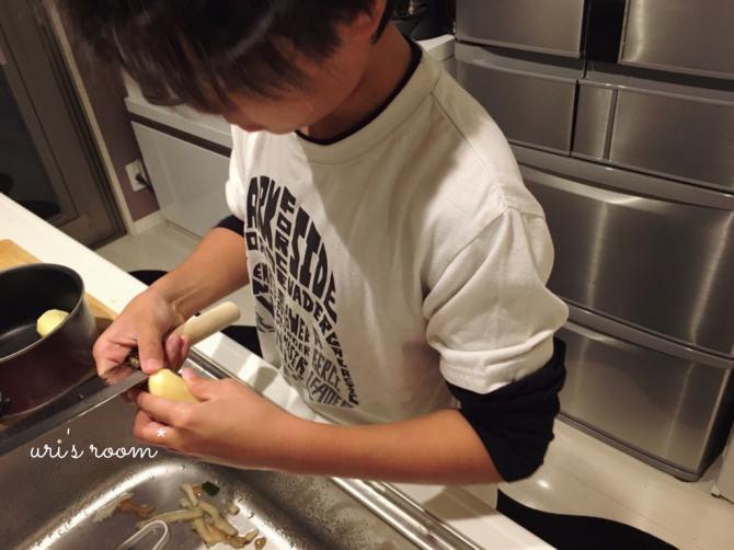 最近買ったお気に入りのコート。それから…息子の料理again!_a0341288_20402437.jpg