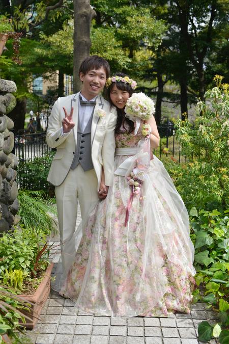 新郎新婦様からのメール フェリーチェガーデン日比谷様へ 新緑の中、幸せな一日を _a0042928_19154148.jpg