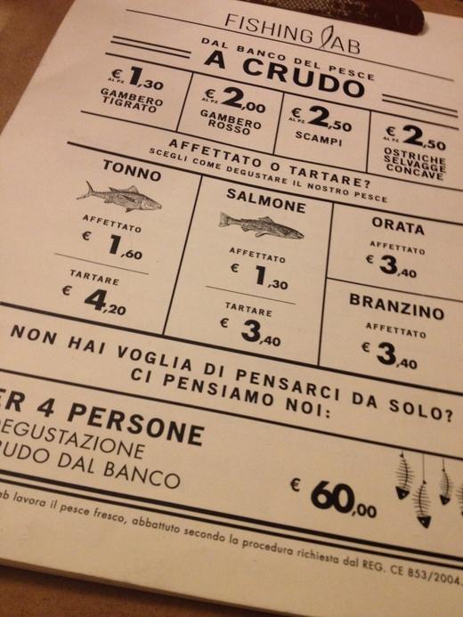予約必至!フィレンツェの魚介レストラン_a0136671_0475331.jpg