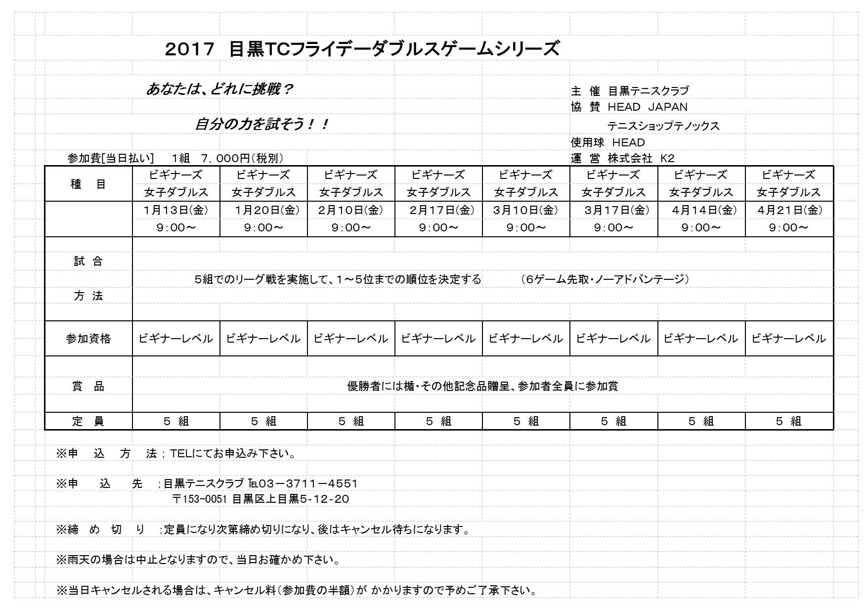 2017年1~4月フライデートーナメント_b0158200_16133587.jpg