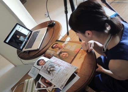 販促用の撮影......モデルは女優の松本若菜さん.......早めの..._b0194185_2234132.jpg