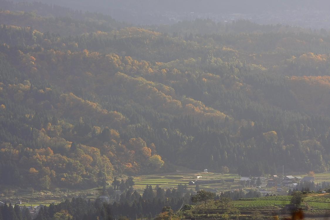 紅葉の麓に小さな小さな白煙 - 2011年・飯山線 -_b0190710_3222722.jpg
