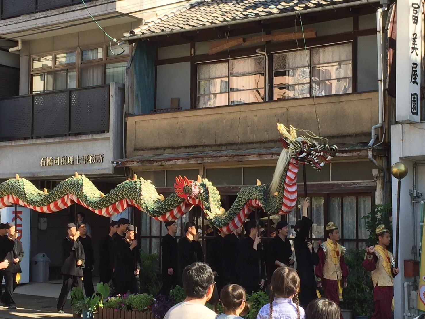 眼鏡橋と龍踊り_b0305770_17454518.jpg
