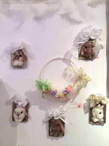 畑牧子さんの出版記念作品展『リアルかわいい羊毛フェルトのうさぎ』@南青山Gallery Paletteへ_a0157409_14484689.jpeg