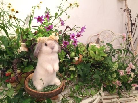 畑牧子さんの出版記念作品展『リアルかわいい羊毛フェルトのうさぎ』@南青山Gallery Paletteへ_a0157409_14495788.jpeg
