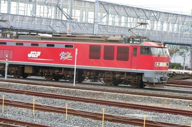 鉄道写真、東海道本線岸辺駅にて・・・・レッドサンダー、EF65の写真撮影_d0181492_17062404.jpg