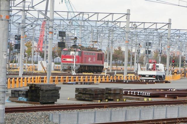 鉄道写真、東海道本線岸辺駅にて・・・・レッドサンダー、EF65の写真撮影_d0181492_17072178.jpg