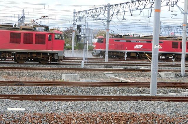 鉄道写真、東海道本線岸辺駅にて・・・・レッドサンダー、EF65の写真撮影_d0181492_17074412.jpg