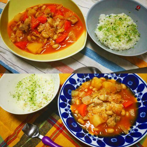 シリット(Silit)の圧力鍋で炊いた大豆水煮を使った料理_b0259630_10583053.jpg