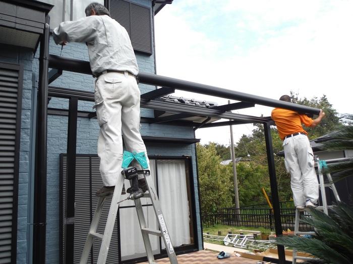 入居前リフォーム ~テラス屋根取り付け。_d0165368_238181.jpg