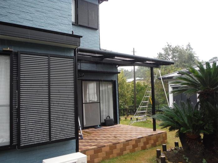 入居前リフォーム ~テラス屋根取り付け。_d0165368_238563.jpg