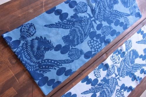 梅崎由起子さんの干支の手ぬぐい「酉」ホワイトとブルー_b0353974_14414992.jpg