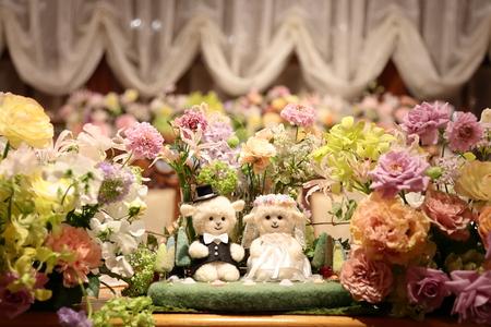 秋の装花 HANZOYA様へ、二人が過ごした7年の季節を、花で_a0042928_1813918.jpg
