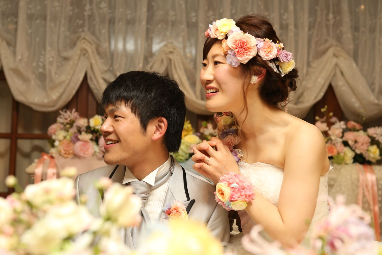 秋の装花 HANZOYA様へ、二人が過ごした7年の季節を、花で_a0042928_1814030.jpg