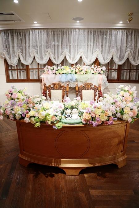 秋の装花 HANZOYA様へ、二人が過ごした7年の季節を、花で_a0042928_18171524.jpg