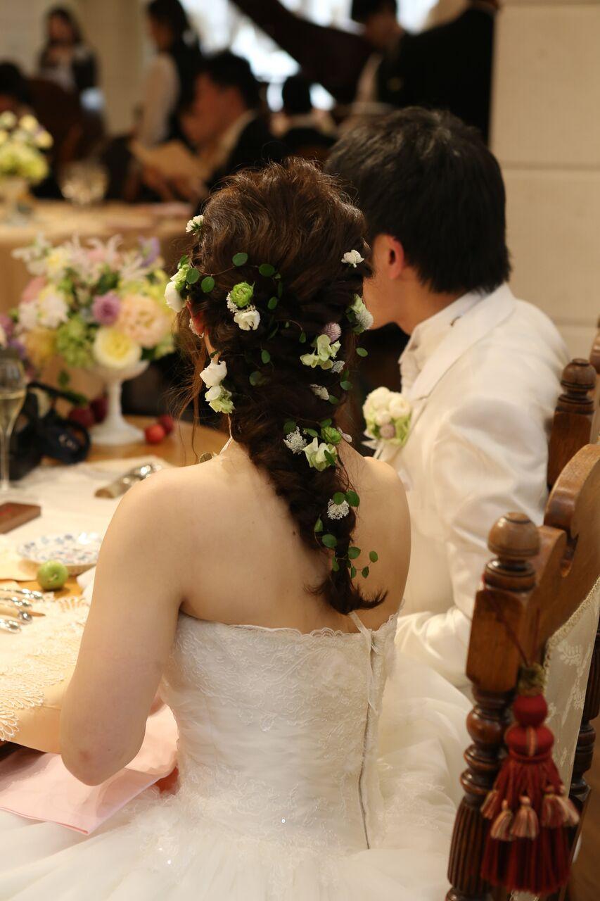秋の装花 HANZOYA様へ、二人が過ごした7年の季節を、花で_a0042928_18182861.jpg