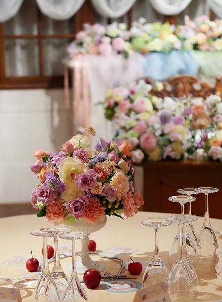 秋の装花 HANZOYA様へ、二人が過ごした7年の季節を、花で_a0042928_18323893.jpg