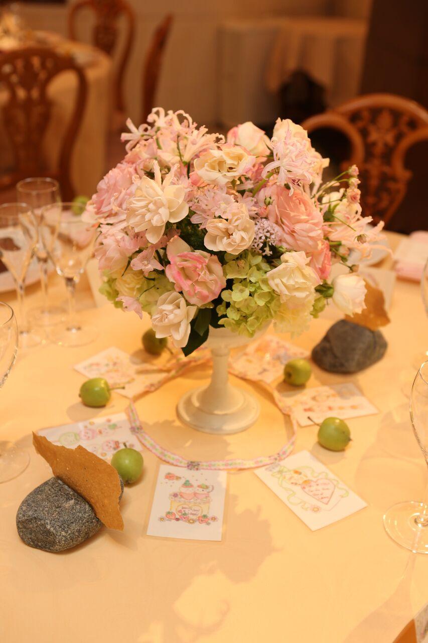 秋の装花 HANZOYA様へ、二人が過ごした7年の季節を、花で_a0042928_18332422.jpg