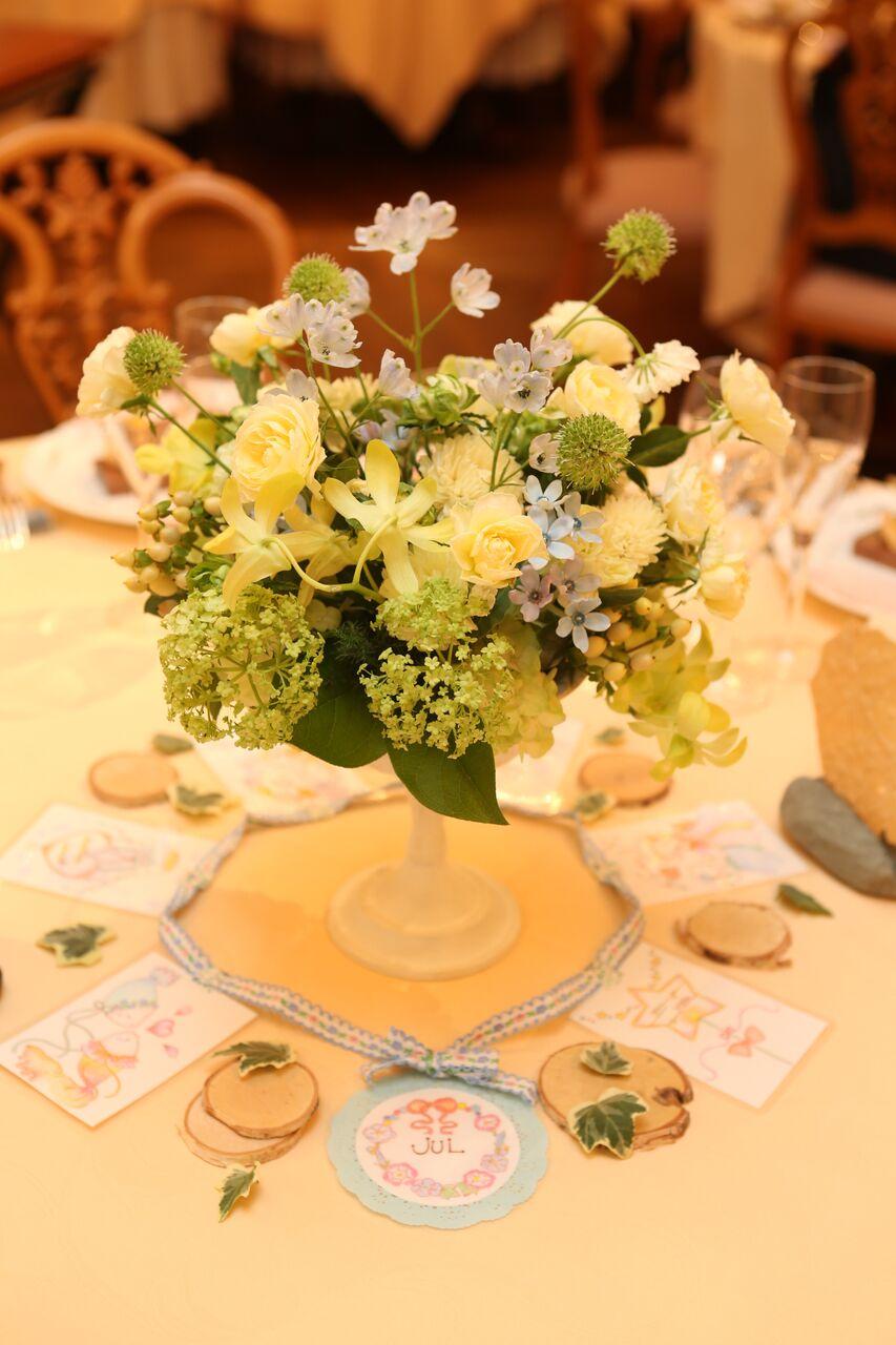 秋の装花 HANZOYA様へ、二人が過ごした7年の季節を、花で_a0042928_18334742.jpg