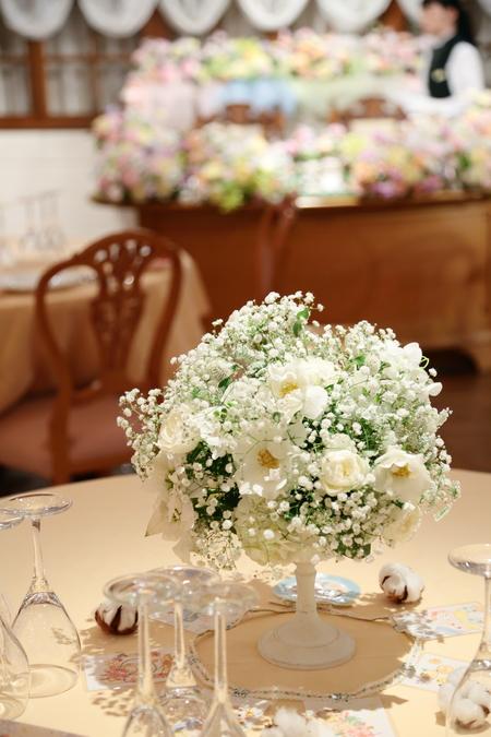 秋の装花 HANZOYA様へ、二人が過ごした7年の季節を、花で_a0042928_18345646.jpg
