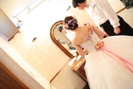 秋の装花 HANZOYA様へ、二人が過ごした7年の季節を、花で_a0042928_18412291.jpg