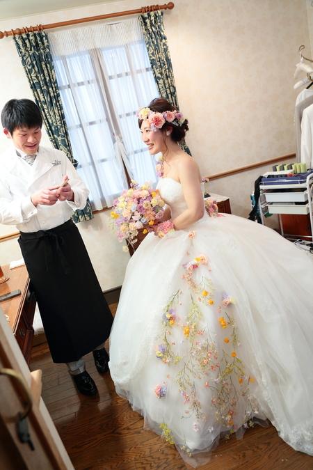 秋の装花 HANZOYA様へ、二人が過ごした7年の季節を、花で_a0042928_18545254.jpg