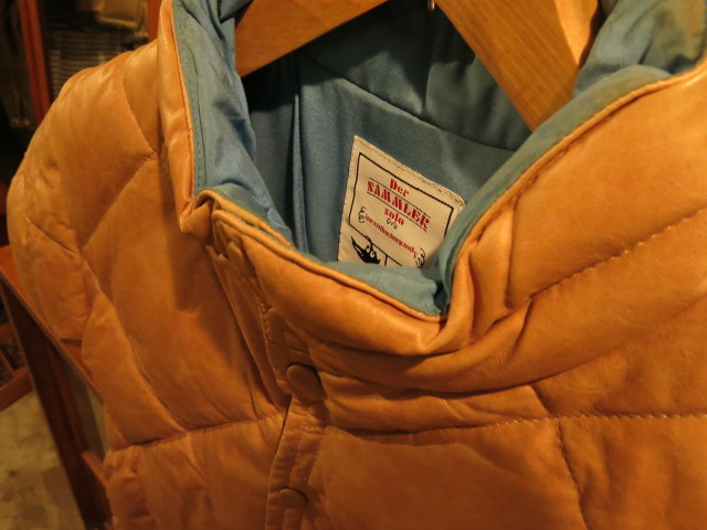 """Der SAMMLER solo H/S LEATHER DOWN TAN/BLU #FAIR\""ってこんなこと。_c0140560_8593775.jpg"