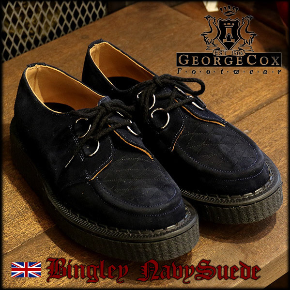 GEORGECOX BINGLEY NAVY SUEDE_e0325662_16524396.jpg