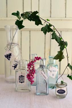 ガラス瓶もクリスマス♪_d0167088_23285479.jpg