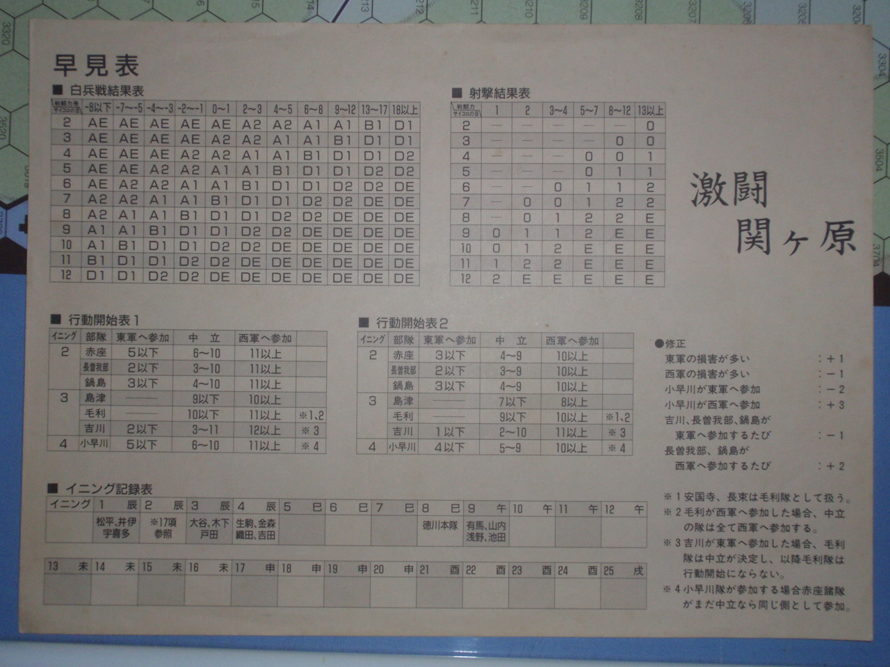 ツクダ/GJ「幸村外伝」をソロプレイ①_b0162202_20145473.jpg