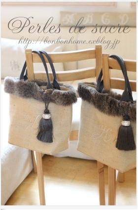 自宅レッスン 秋冬用のファーつきのトートバッグ ブック型の箱_f0199750_16453068.jpg