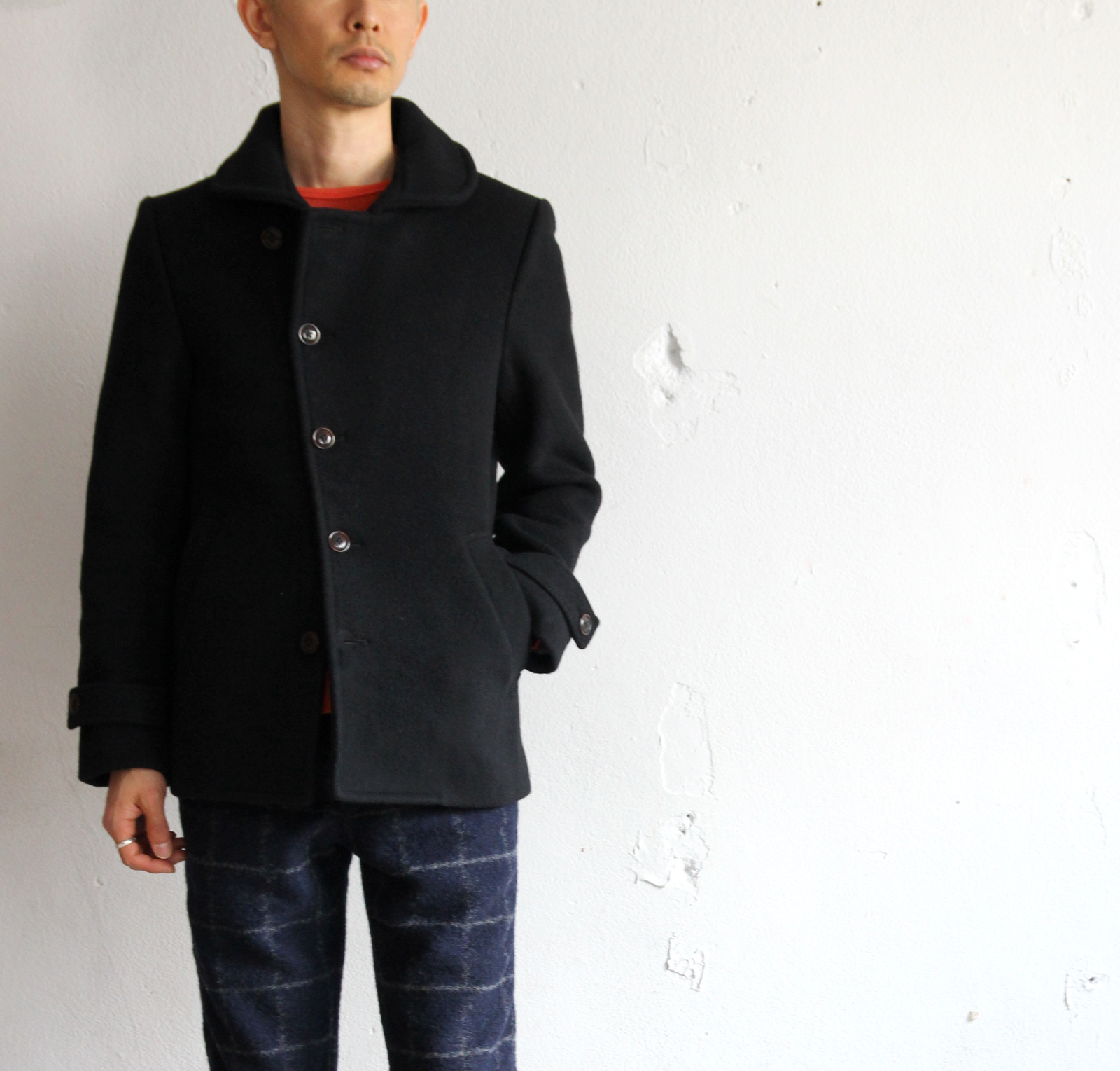 Melton Stand Collar P-Coat _e0142928_2002840.jpg