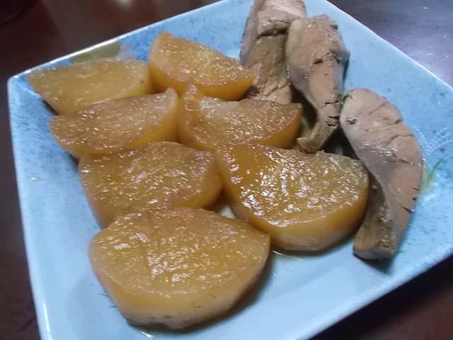 ぶり大根&柿と春菊の白和え_f0019498_15215216.jpg