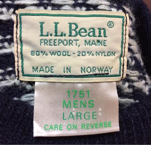 アメリカ仕入れ情報#1  80s ~L.L bean bird eyeバードアイ セーター_c0144020_12500178.jpg