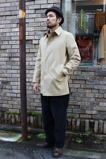 "Mackintosh by Francis Campelli ltd ""SINGLE BREASTED COAT\"" ご紹介_f0191324_08281635.jpg"