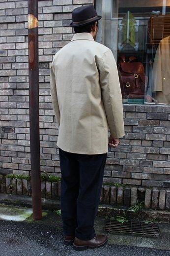 "Mackintosh by Francis Campelli ltd ""SINGLE BREASTED COAT\"" ご紹介_f0191324_08282298.jpg"