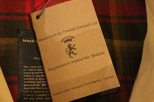 "Mackintosh by Francis Campelli ltd ""SINGLE BREASTED COAT\"" ご紹介_f0191324_08320228.jpg"