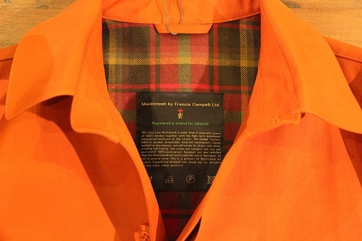 "Mackintosh by Francis Campelli ltd ""SINGLE BREASTED COAT\"" ご紹介_f0191324_08321855.jpg"
