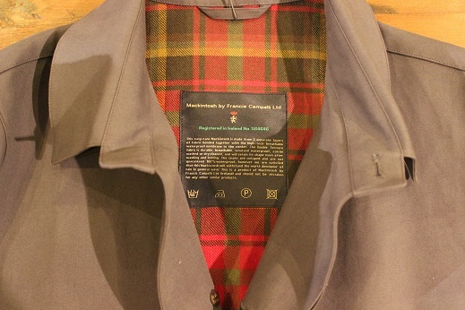 "Mackintosh by Francis Campelli ltd ""SINGLE BREASTED COAT\"" ご紹介_f0191324_08322362.jpg"