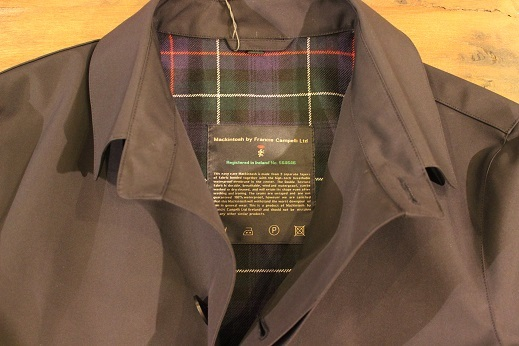 "Mackintosh by Francis Campelli ltd ""SINGLE BREASTED COAT\"" ご紹介_f0191324_08322995.jpg"