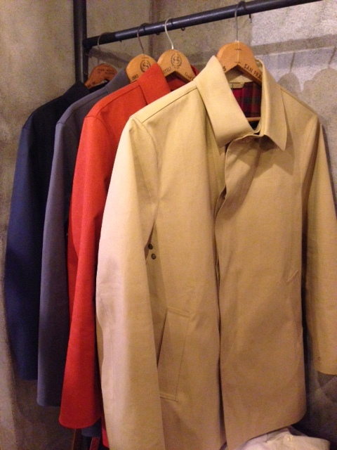 "Mackintosh by Francis Campelli ltd ""SINGLE BREASTED COAT\"" ご紹介_f0191324_09343292.jpg"
