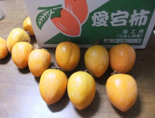 ビッグな渋柿で...干し柿作り_b0137932_14583491.jpg