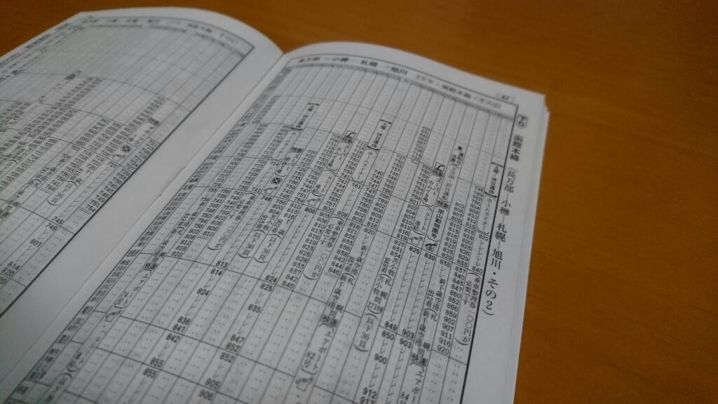 JR札幌駅発、JR大麻駅着。JR北海道普通列車時刻表_b0106766_16552404.jpg