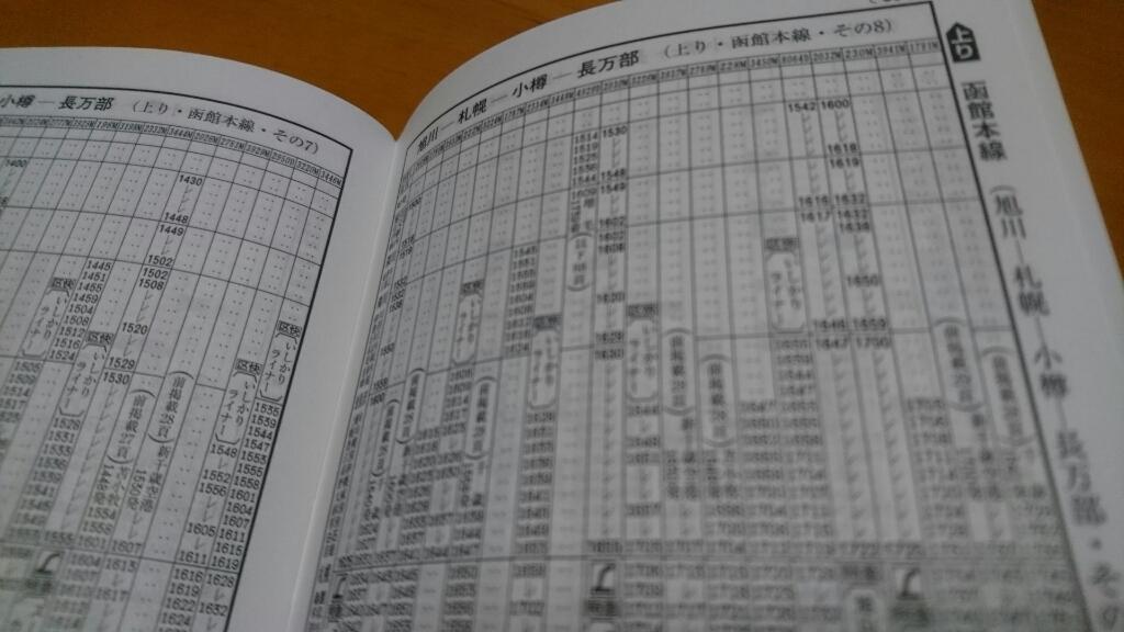 JR大麻駅発、JR札幌駅着。JR北海道普通列車時刻表_b0106766_16590803.jpg