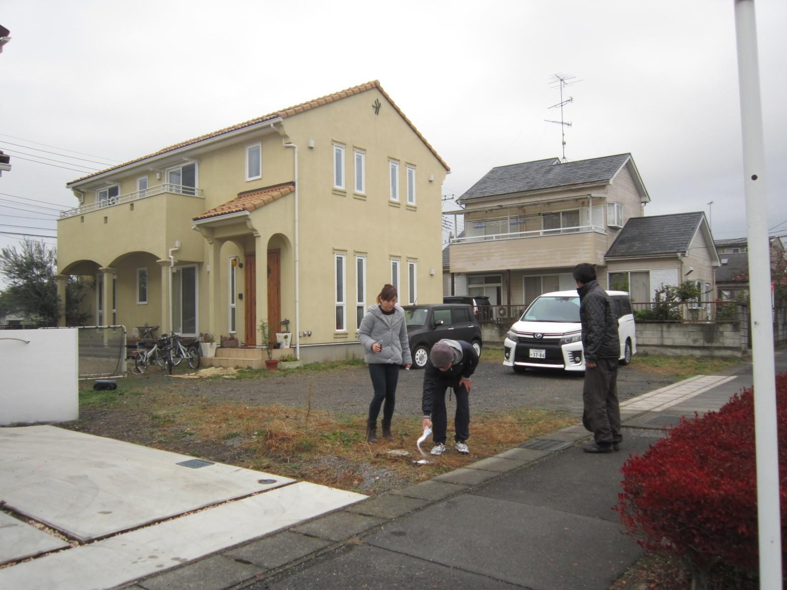 足利市の外構・エクステリア工事はじまります。洋風で可愛いお宅(M邸)_e0361918_11240925.jpg