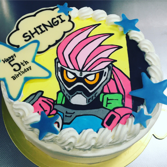 エグゼイドのバースデーケーキ 幸せなトカゲ おもにケーキをつくってます