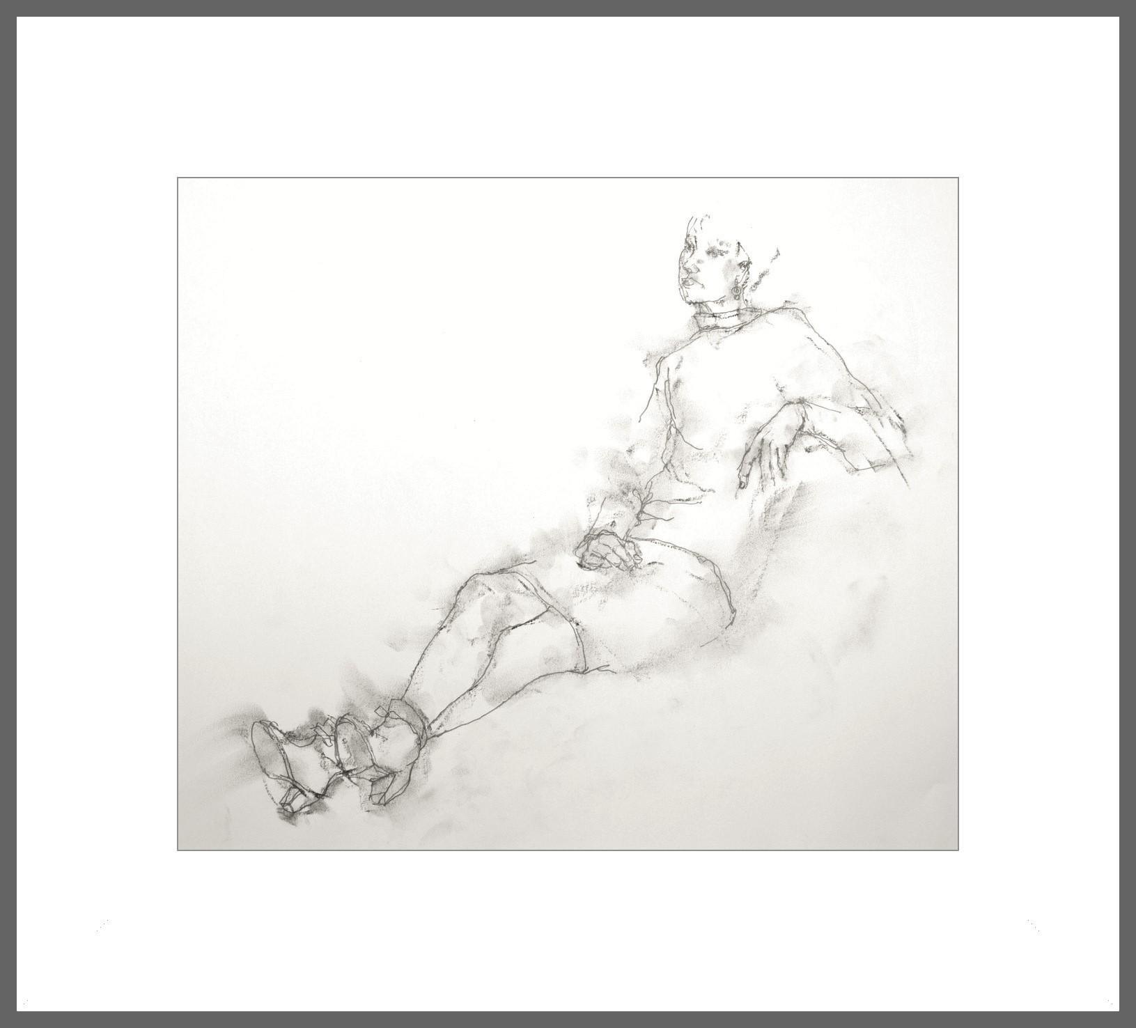《 素描・・・「ブーツを履いて足をなげだす女」 》_f0159856_10314306.jpg