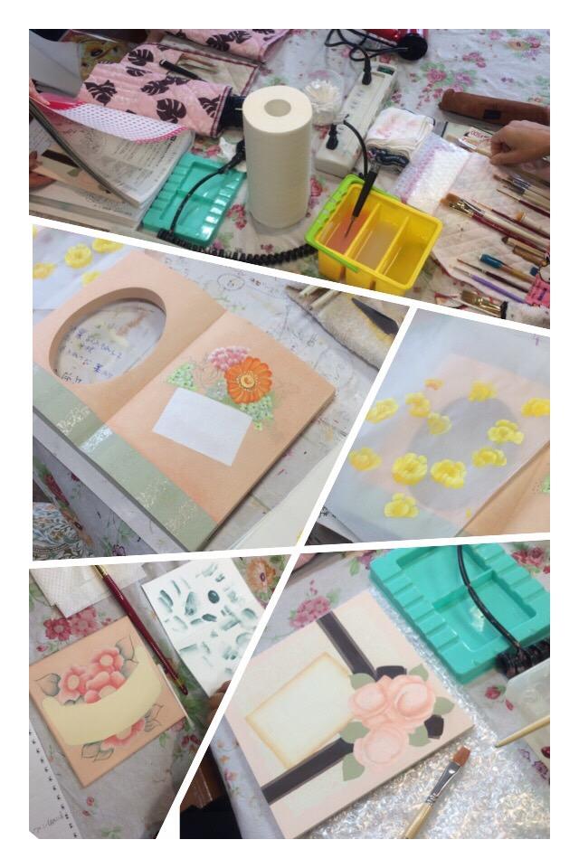 トールペイント&デコレーションアート教室のレッスン風景  アトリエ フルール_f0180576_955831.jpg